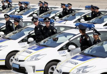 Полиция Украина машины радость