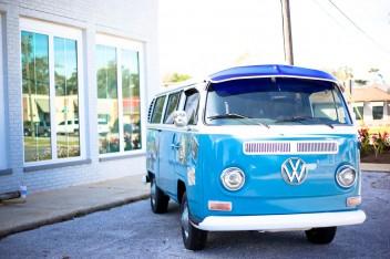 wolksvagen T1 фургон синий