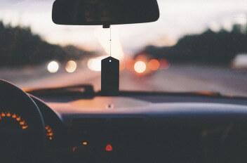 Трасса ночь машина внутри силуэт