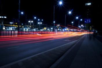 Ночь скорость авто дорога размытое