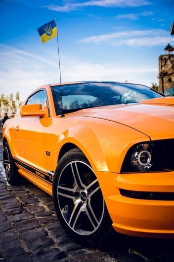 Оранжевый GT флаг Украина небо