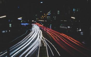 Дорога ночь авто скорость размытое